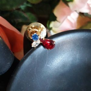 CUTE ANGEL PIN/ LAPEL (RUBY,WHITE ,BLUE STONES